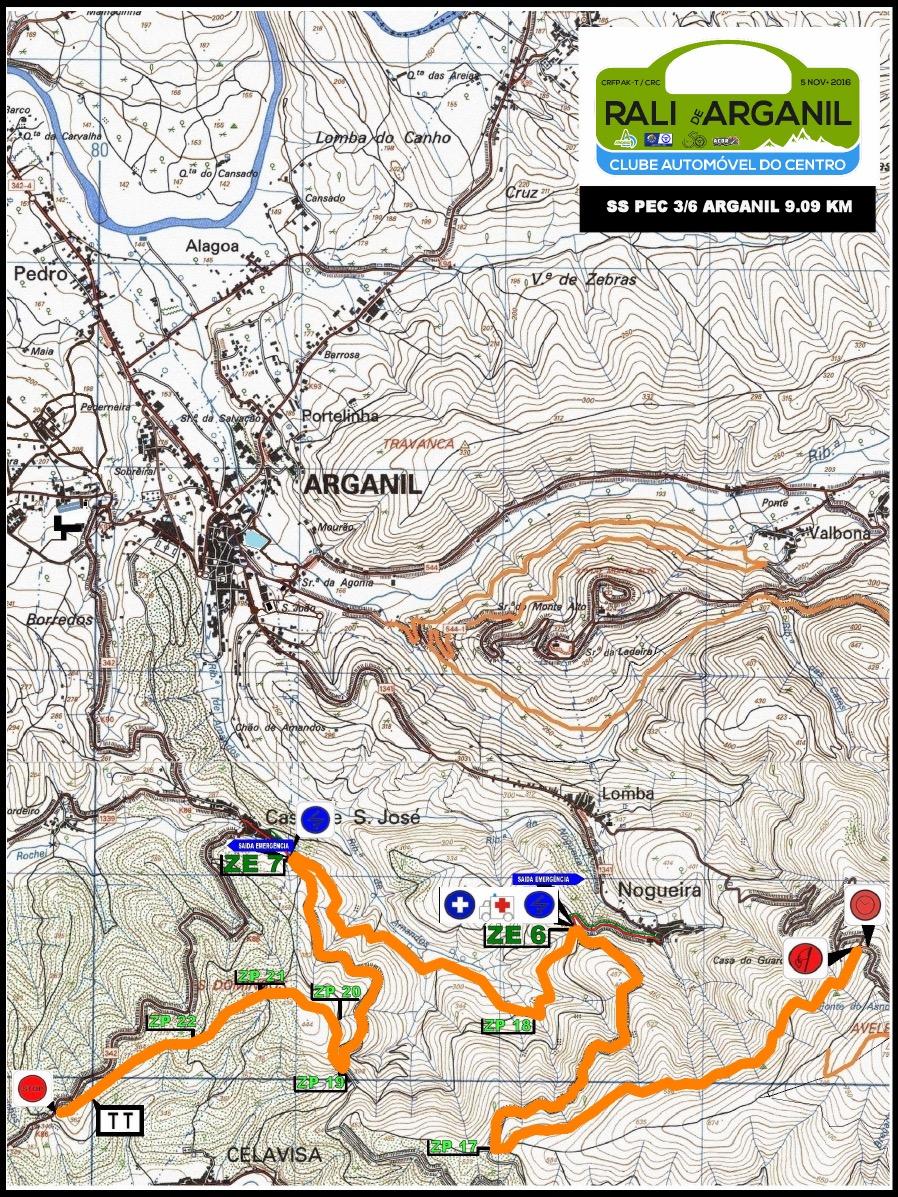 Mapas Dos Trocos Rali De Arganil